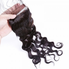 4x4 Lace Closure Natural Wave Wavy cheap price bleached knots tangle free best selling virgin