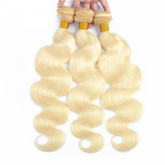 613 Color Body Wave Human Hair Weft 1 Bundle 2,3,4 Bundles Honey Blonde Hair Color