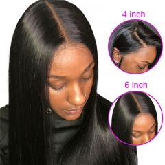 13x6 Lace Front Wig Straight Suitable Dying Colors Natural Color Black Color Average Size